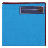 Peluche Cool Blue - Pocket Square Linen