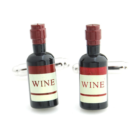 Old Wine Bottle Black Cufflinks for Men | Genuine Branded Product from Peluche.in