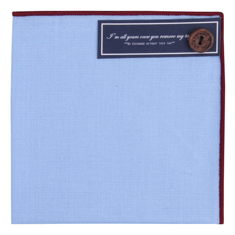 Peluche Blue Austerity - Pocket Square Linen