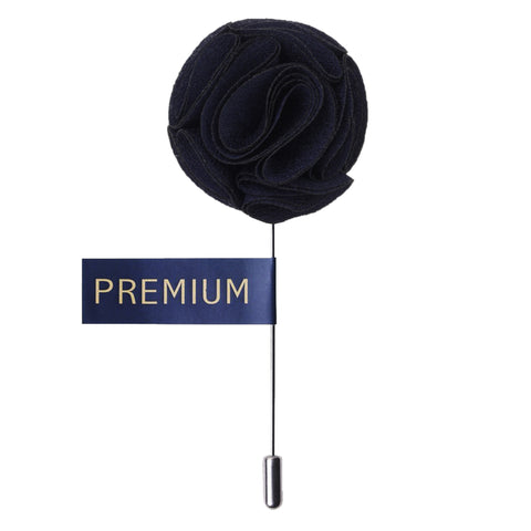 Floral Elegance Navy Blue Colored Brooch / Lapel Pin for Men | Genuine Branded Product from Peluche.in