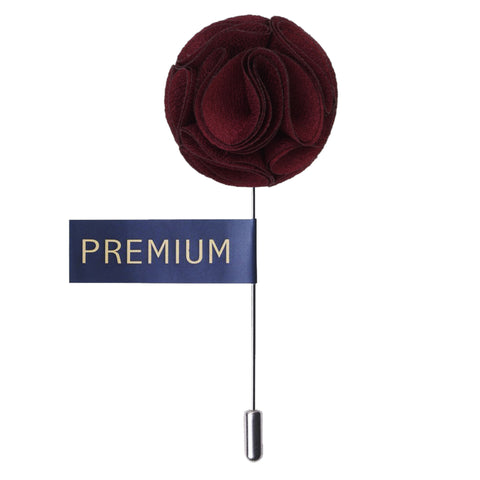 Floral Elegance Maroon Colored Brooch / Lapel Pin for Men | Genuine Branded Product from Peluche.in