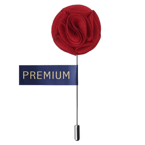Floral Elegance Red Colored Brooch / Lapel Pin for Men | Genuine Branded Product from Peluche.in