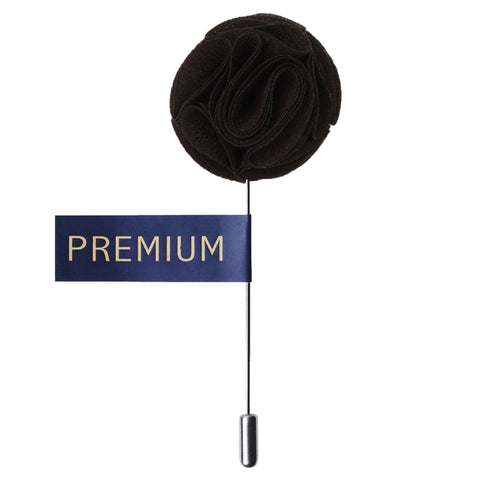 Floral Elegance Dark Brown Colored Brooch / Lapel Pin for Men | Genuine Branded Product from Peluche.in