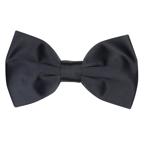 Essential  Black Coloured Cotton Bow Tie For Men | Genuine Branded Product Cotton