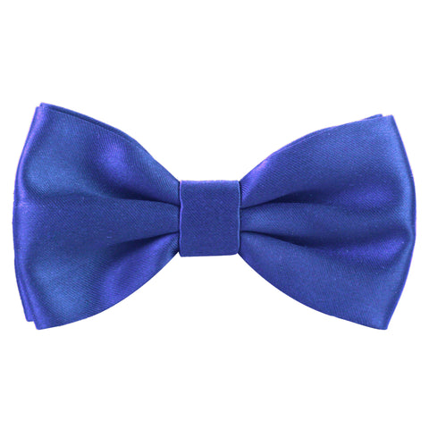 Essential  Blue Coloured Cotton Bow Tie For Men