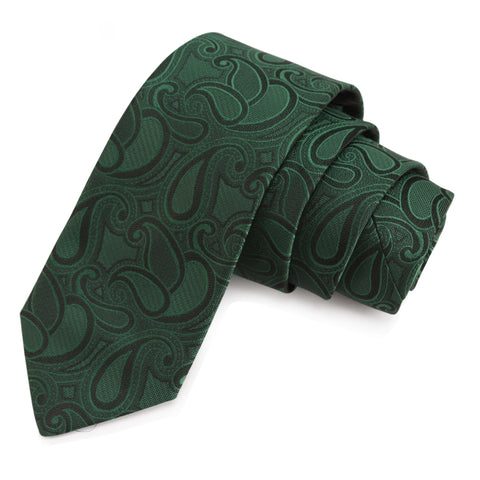 Fabulous Green Colored Microfiber Necktie for Men | Genuine Branded Product from Peluche.in