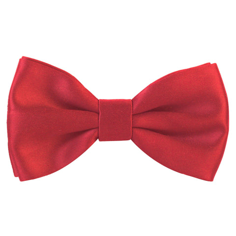 Essential  Red Coloured Cotton Bow Tie For Men