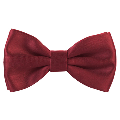 Essential  Maroon Coloured Cotton Bow Tie For Men