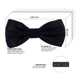 Essential Navy Blue Coloured Cotton Bow Tie For Men