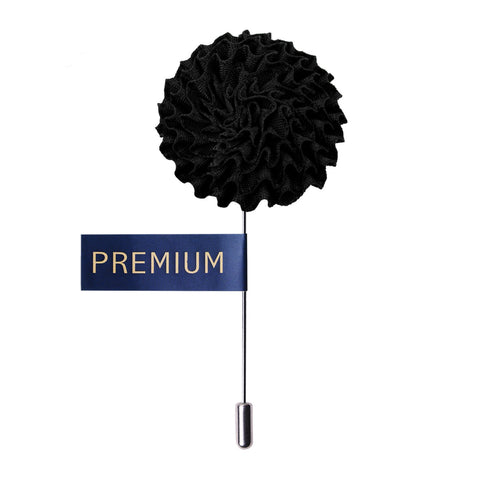 Peluche Greetings of Goodtime - Black Brooch Brass, Satin