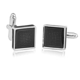 Classy Resin Enamel Black Cufflinks for Men | Genuine Branded Product from Peluche.in