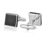 Classy Resin Enamel Black Cufflinks for Men