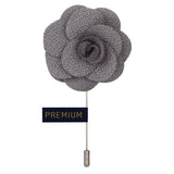 Peluche - Brawny Delicacy - Grey - Brooch Lapel Pin - Cotton, Brass