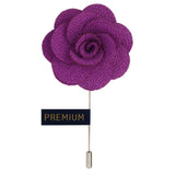 Brawny Delicacy - Purple Brooch Lapel Pin
