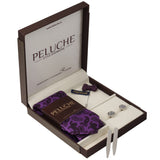 Luxe Gift Box Includes 1 Neck Tie, 1 Brooch, 1 Pair of Cufflinks and 1 Pair of Collar Stays for Men | Genuine Branded Product from Peluche.in