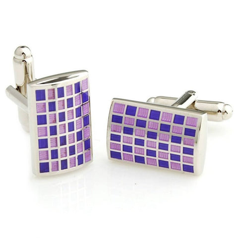 Mr.Dapper - Rock the Party - Purple and Blue Cufflinks