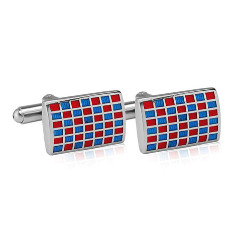 Mr.Dapper - Rock the Party - Red and Blue Cufflinks