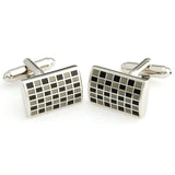 Mr.Dapper - Rock the Party - Black and Grey Cufflinks