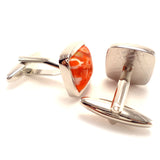 Quirky Floral Blossom - Orange Cufflinks