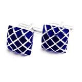 Peluche Enamel Play - Blue Cufflinks Brass, Enamel