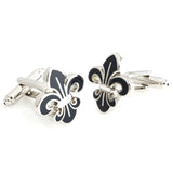 Orchid - Black Cufflinks