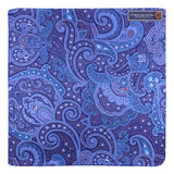 Silk Paisley - Blue Pocket Square