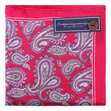 Peluche Silk n Sexy Red Pocket Square Silk, Pure Silk