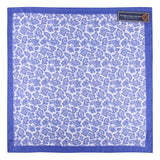 Silk Blue and White Paisley - Pocket Square