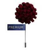 Peluche A Glorious Crescendo - Maroon Brooch Brass, Cotton