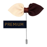 The Elegant Bow - Brown, Beige Brooch Lapel Pin