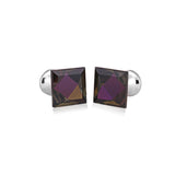 Designed Crystal Purple Cufflinks for Men | Genuine Branded Product from Peluche.in
