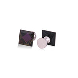 Designed Crystal Purple Cufflinks for Men