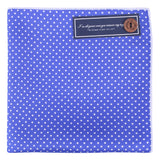 Peluche Silk Polka Dot - Pocket Square - Blue and White Silk, Pure Silk