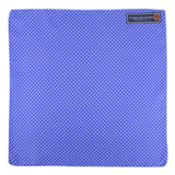 Silk Polka Dot - Pocket Square - Blue and White