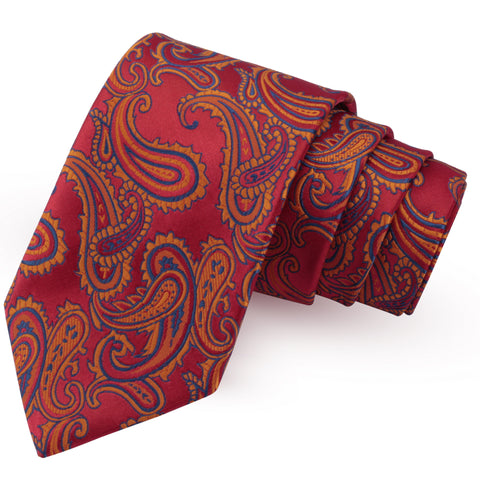 Swanky Red Colored Microfiber Necktie for Men | Genuine Branded Product from Peluche.in
