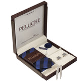 Fine Gift Box Includes 1 Neck Tie, 1 Brooch, 1 Pair of Cufflinks and 1 Pair of Collar Stays for Men | Genuine Branded Product from Peluche.in