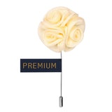 Ranunculus Flower - Cream Brooch Lapel Pin