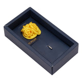 Tri Flower Yellow Colored Brooch / Lapel Pin for Men