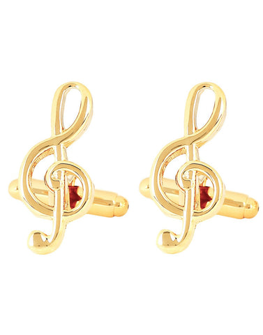 Peluche Symphony - Golden Cufflinks Brass, Metal