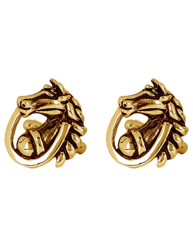 Peluche The Knight - Golden Cufflinks Brass, Enamel
