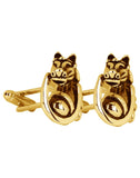 The Knight - Golden Cufflinks