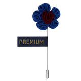 Florwer in Flower - Blue, Maroon Brooch Lapel Pin