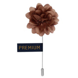 Elron Petals - Light Brown Brooch Lapel Pin