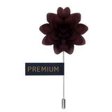 Elron Petals - Dark Brown Brooch Lapel Pin