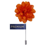 Blooming Glamor Orange Colored Brooch / Lapel Pin for Men | Genuine Branded Product from Peluche.in