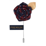 Floral Pentagon - Maroon, Blue, White, Golden Brooch Lapel Pin