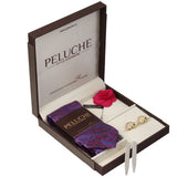 Winning Cards Gift Box Includes 1 Neck Tie, 1 Brooch, 1 Pair of Cufflinks and 1 Pair of Collar Stays for Men | Genuine Branded Product from Peluche.in