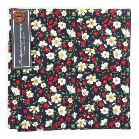 Little Flowers Multicolored Pocket Square for Men | Genuine Branded Product from Peluche.in