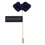 Mini Bow - Royal Blue Brooch Lapel Pin