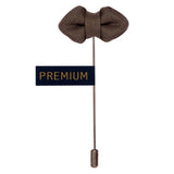 Mini Bow - Grey Brooch Lapel Pin